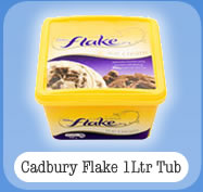 Cadbury Flake 1Ltr Tub